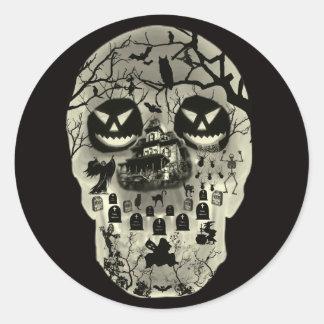 Moon Skull Stickers