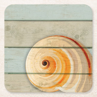 Moon Snail Square Paper Coaster