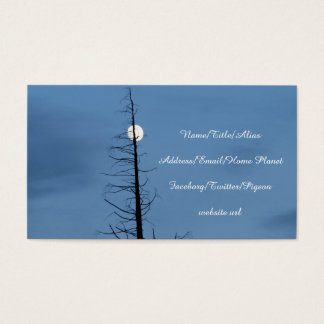 Moon Speared By Tree Business Card