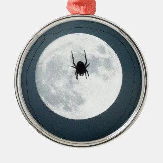 Moon spider metal ornament