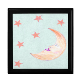 MOON & STARS LARGE SQUARE GIFT BOX