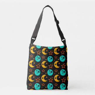 Moon Stars Starry Sky Galaxy Astrology Wiccan Crossbody Bag
