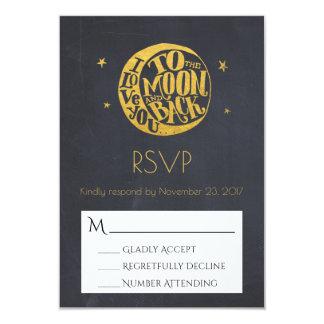 Moon & Stars With Romantic Saying Wedding RSVP Card