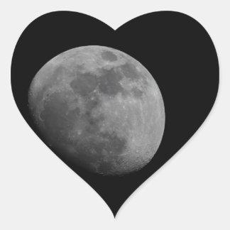 Moon Heart Stickers