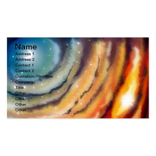 Moon Sunset Business Card Business Card
