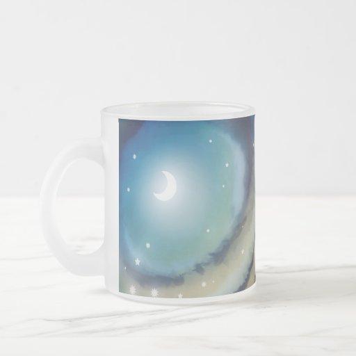 Moon Sunset Frosted Glass Mug Mugs