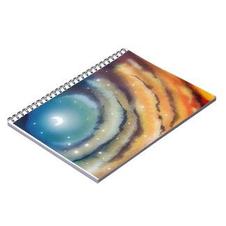 Moon Sunset Notebook Notebook