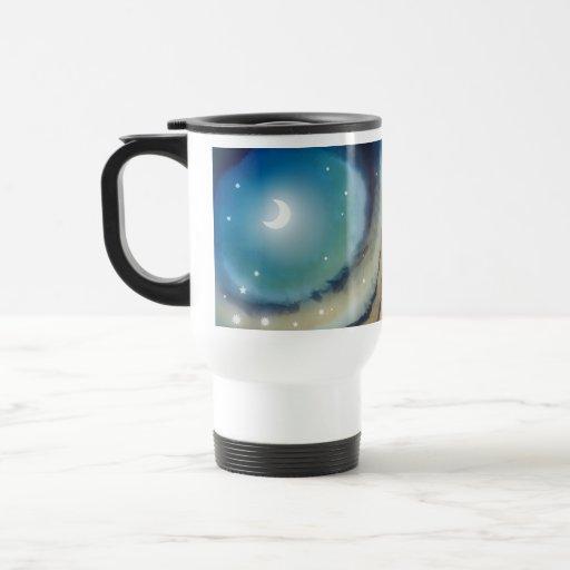 Moon Sunset Travel Mug Coffee Mugs