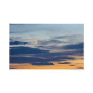 Moon Sunset Wrapped Canvas