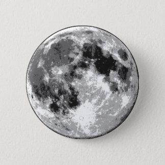 Moon Surface 6 Cm Round Badge