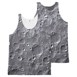 Moon surface All-Over print tank top
