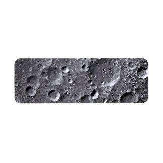 Moon surface return address label