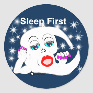 Moon, The Stars...Sleep is What We Need Classic Round Sticker