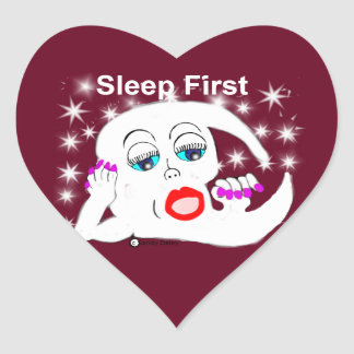 Moon, The Stars...Sleep is What We Need Heart Sticker