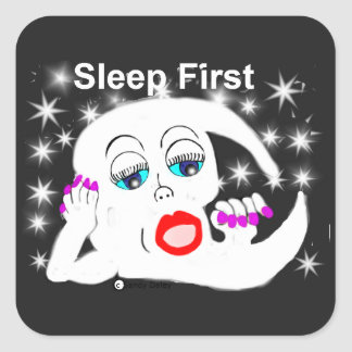 Moon, The Stars...Sleep is What We Need Square Sticker