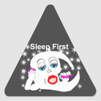 Moon, The Stars...Sleep is What We Need Triangle Sticker