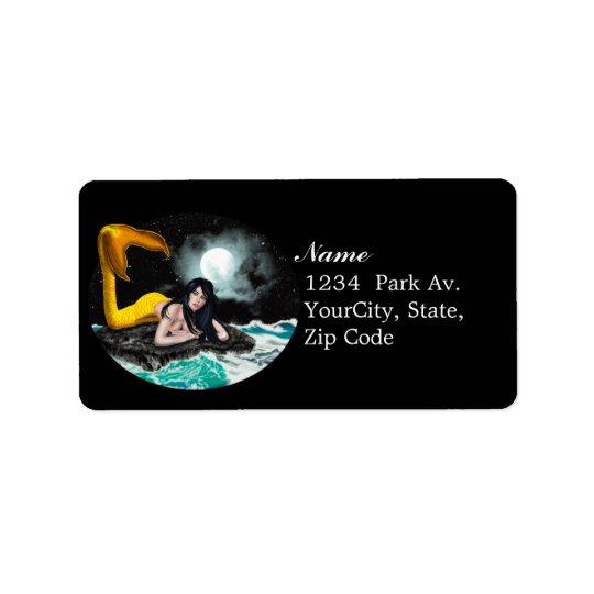 Moon Tide Mermaid Avery Labels 2