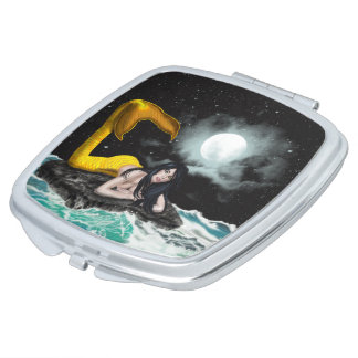 Moon Tide Mermaid Compact Mirror