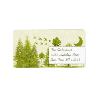 Moon Tree Stars Return Address Address Label