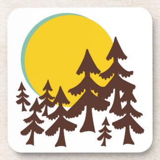 Moon & Trees Drink Coaster