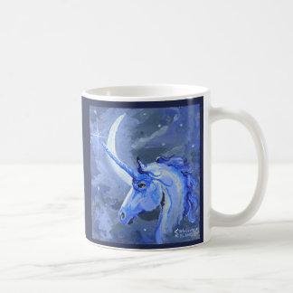 Moon Unicorn Blue Mug