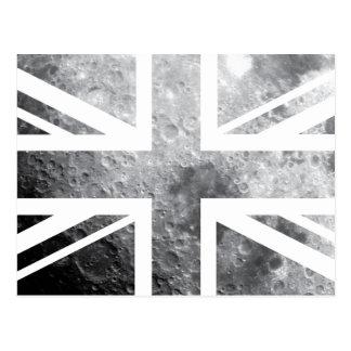 Moon Union Jack British UK Flag Postcard