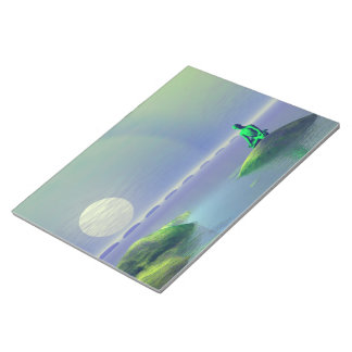 moon white and hills green notepad