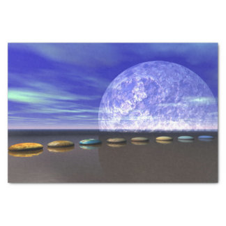 moon white and stone and steps tissue paper