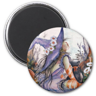 Moon ,Witch & Kitty Magnet