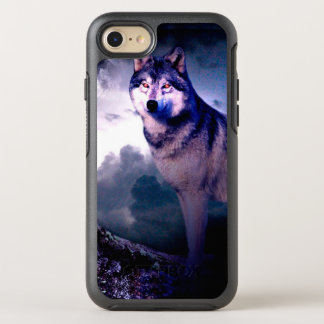 Moon wolf - gray wolf - wild wolf - snow wolf OtterBox symmetry iPhone 8/7 case
