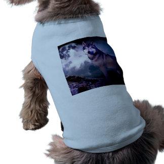 Moon wolf - gray wolf - wild wolf - snow wolf shirt