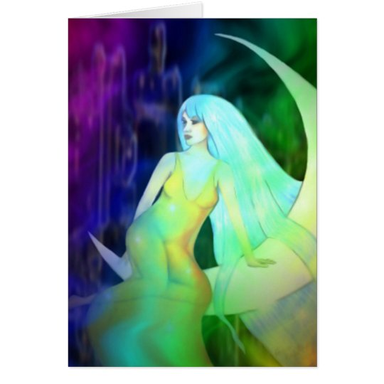 Moon Woman Greeting Card