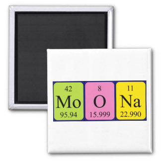 Moona periodic table name magnet