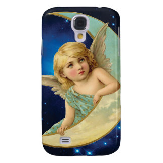 Moonbeam - Angel and Moon Collage Galaxy S4 Covers