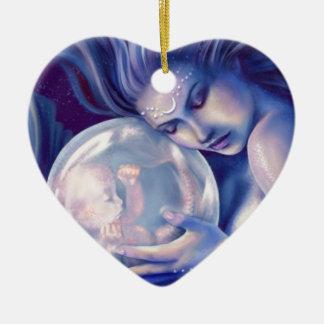 Moonborn - Mermaid and Baby Ceramic Ornament