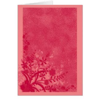 .::MoonDreams::. Floral Hot Pink 2 Note Card