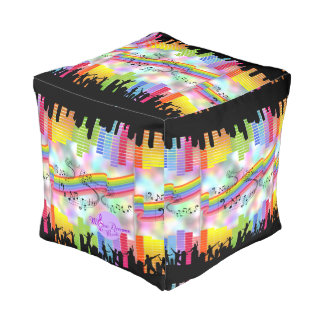 MoonDreams Music Nights Cubed Pouf