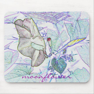 "Moonflower ""drawing' mousepad"