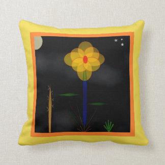 """""""Moonflower, Moonflower"""" 16' x 16"""" Throw Pillow"""