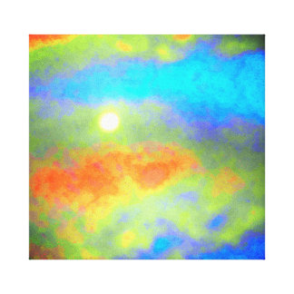 Moonglow through Clouds Canvas Print
