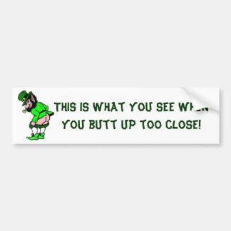Mooning Leprechaun Bumper Sticker