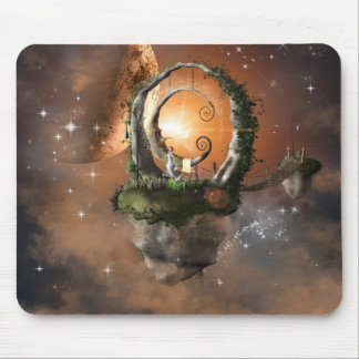 Moonland in the universe mouse pads