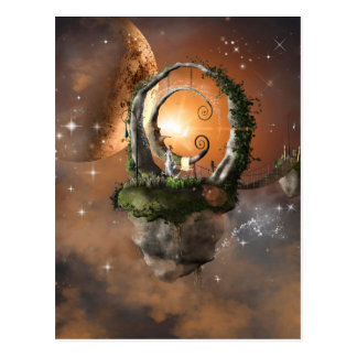 Moonland in the universe postcards