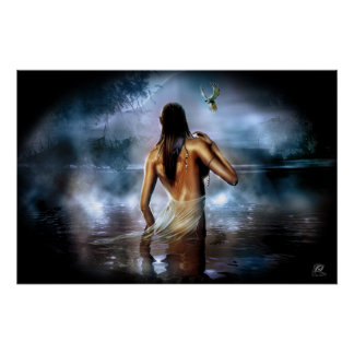 Moonlight bath poster