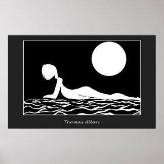 Moonlight Beach Poster