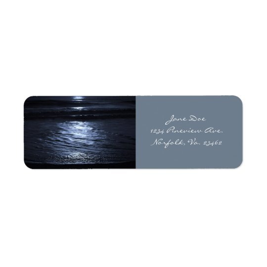 Moonlight by Shirley Taylor Return Address Label