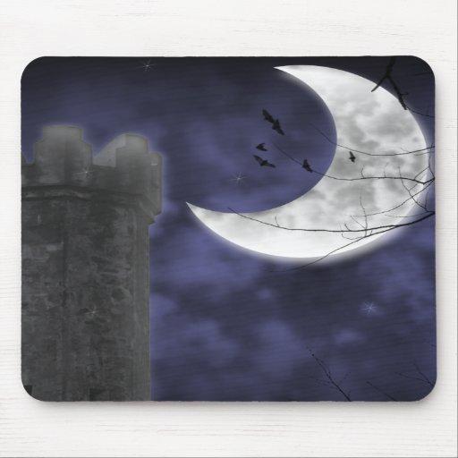 Moonlight Castle Gothic Fantasy Mousepad