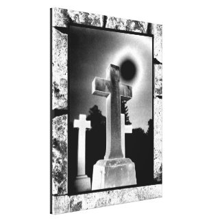 Moonlight Cross Stretched Canvas Print
