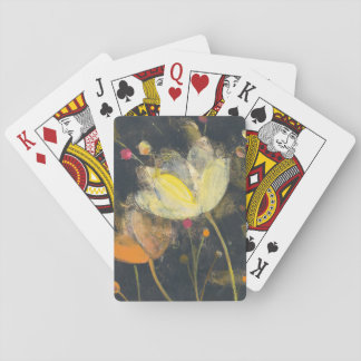 Moonlight Garden on Black Playing Cards