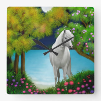 Moonlight Horse Wall Clock